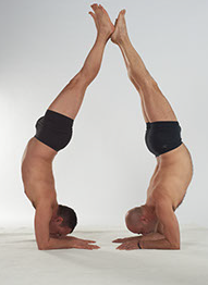 pinkamayurasana en duo cours de yoga massage paris bastille
